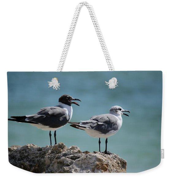 Gull Talk Weekender Tote Bag