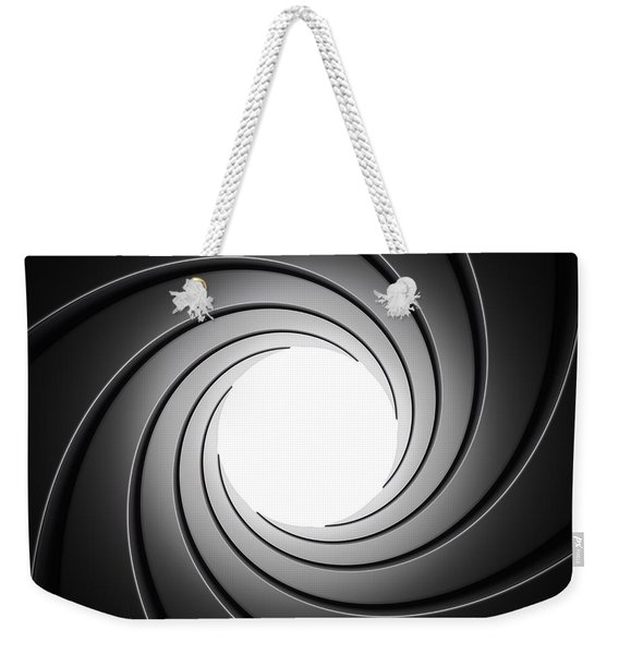 Gun Barrel From Inside Weekender Tote Bag