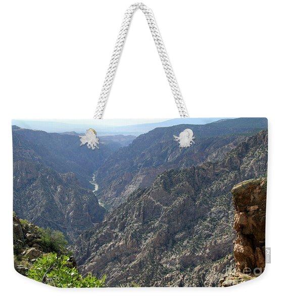 Gunnison River Winding Through The Mountains Weekender Tote Bag