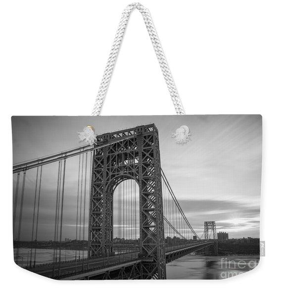 Gw Bridge Winter Sunrise Weekender Tote Bag