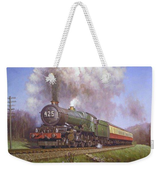 Gwr King Class On Dainton Bank. Weekender Tote Bag