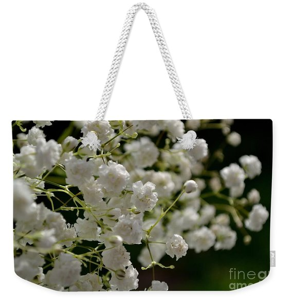 Weekender Tote Bag featuring the photograph Gypsophilia by Scott Lyons
