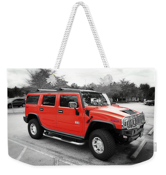 Red Hummer H2 Series  Weekender Tote Bag