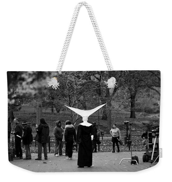 Weekender Tote Bag featuring the photograph Habit In Central Park by Lorraine Devon Wilke
