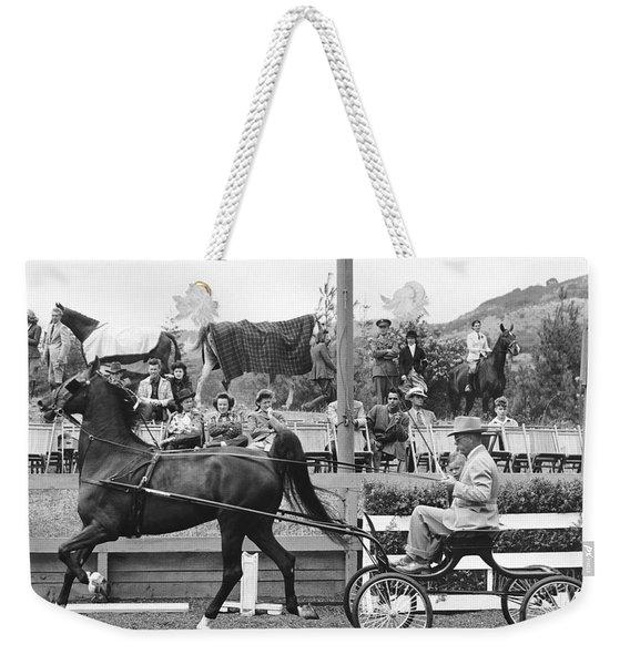 Hackney Harness Horse Weekender Tote Bag