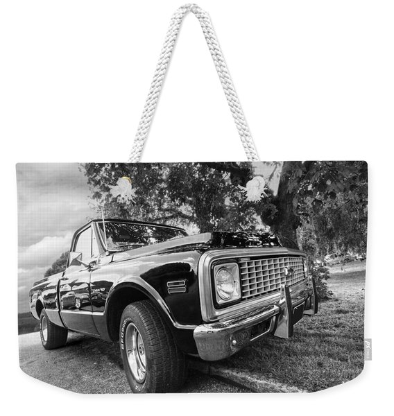 Halcyon Days - 1971 Chevy Pickup Bw Weekender Tote Bag