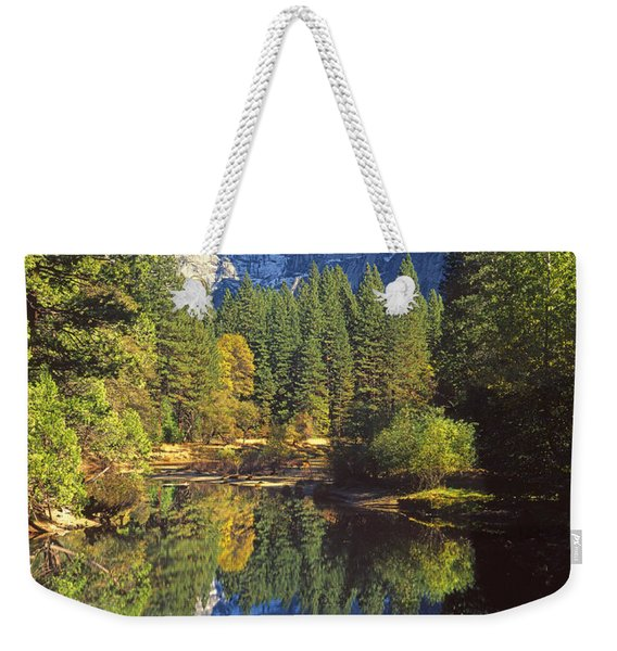 2m6709-half Dome Reflect - V Weekender Tote Bag