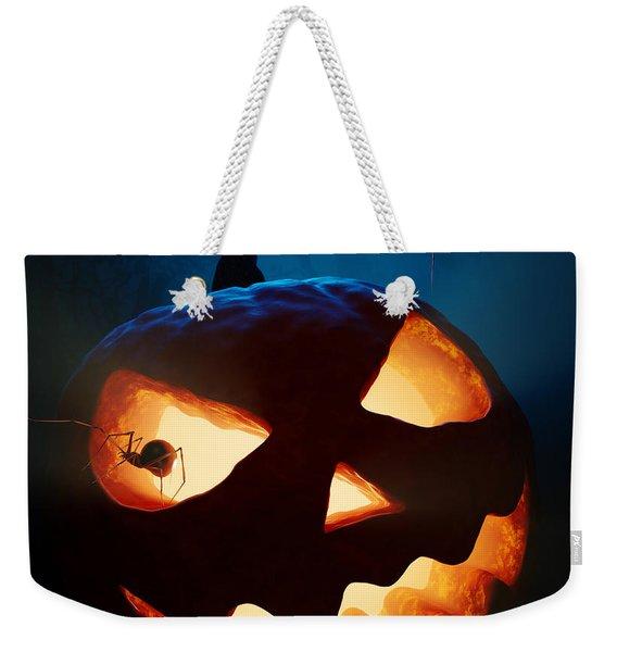 Halloween Pumpkin And Spiders Weekender Tote Bag