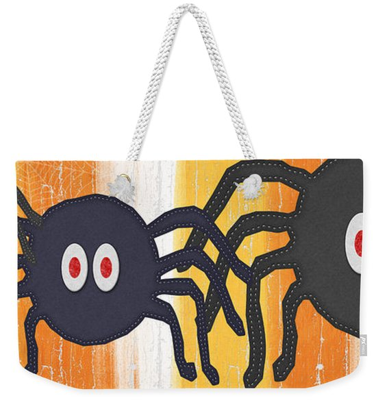 Halloween Spiders Sign Weekender Tote Bag