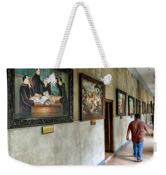 Hallway Of Paintings Weekender Tote Bag