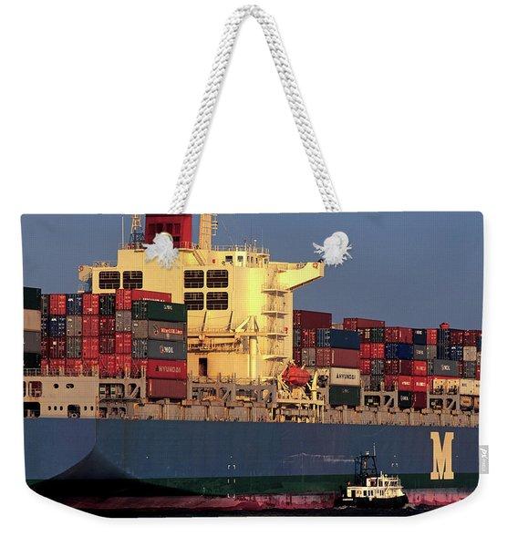 Hamburg, Germany Container Ship Mol Weekender Tote Bag