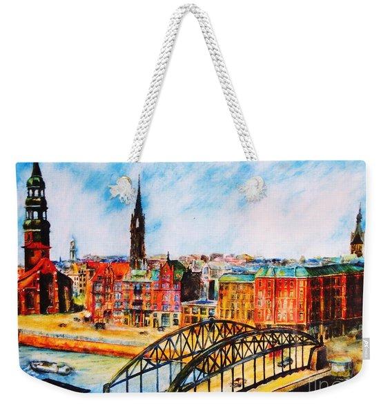 Hamburg - The Beauty At The River Weekender Tote Bag