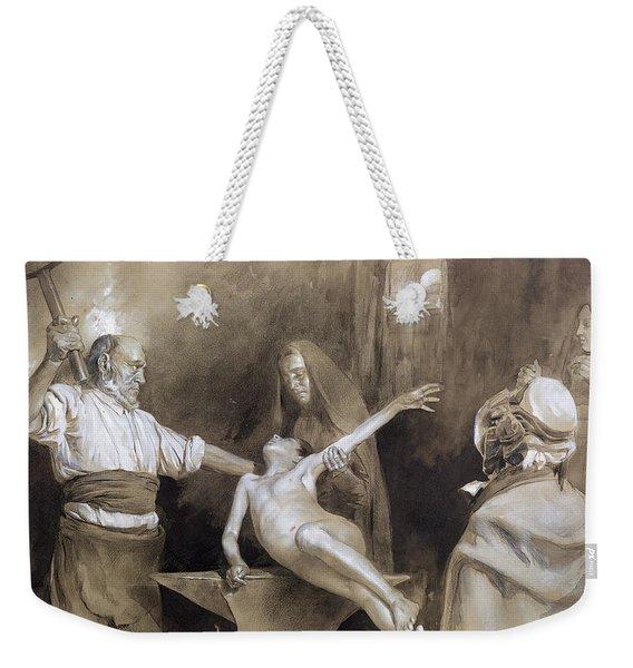 Hammering The Spleen Weekender Tote Bag