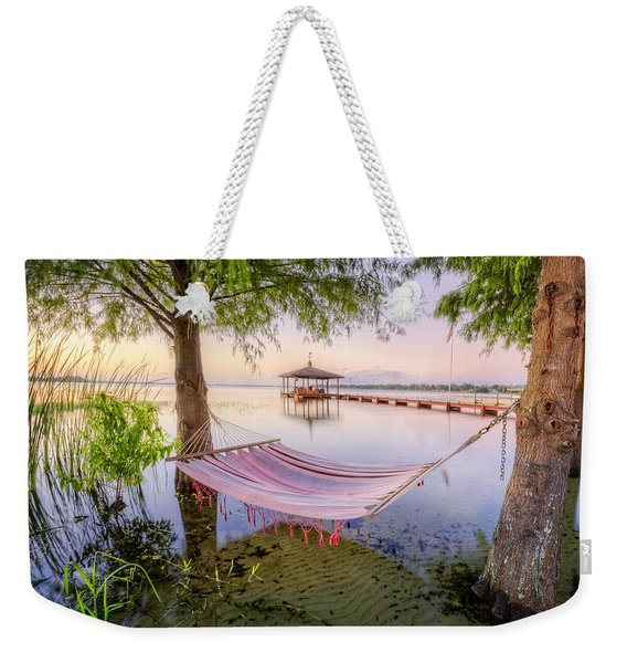 Hammock At The Lake Weekender Tote Bag
