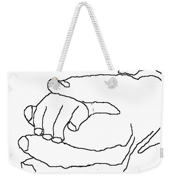 Hand In Hand Weekender Tote Bag