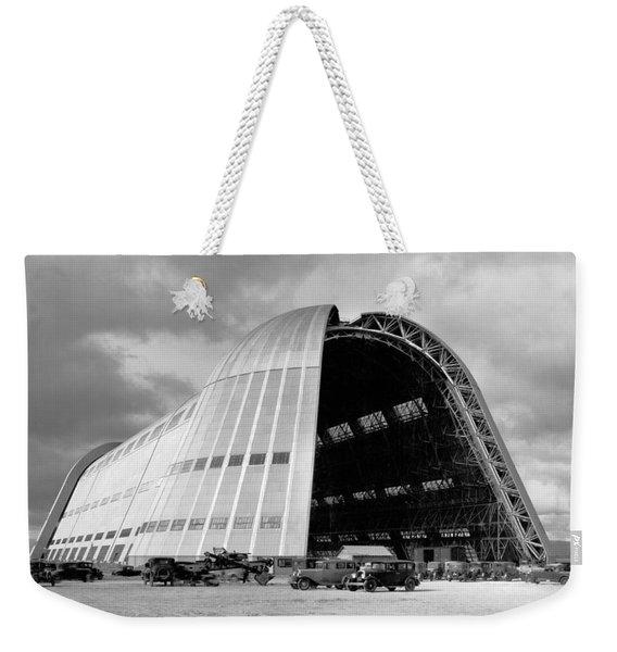 Hangar One At Moffett Field Weekender Tote Bag