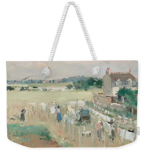 Hanging The Laundry Out To Dry Weekender Tote Bag