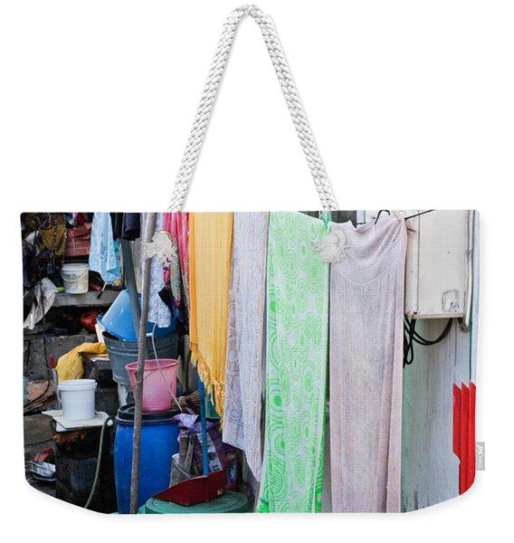 Hanging Towels Weekender Tote Bag