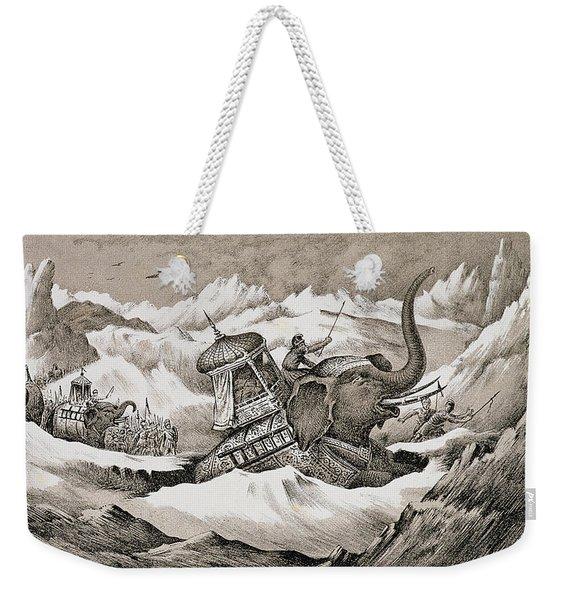 Hannibal And His War Elephants Crossing Weekender Tote Bag