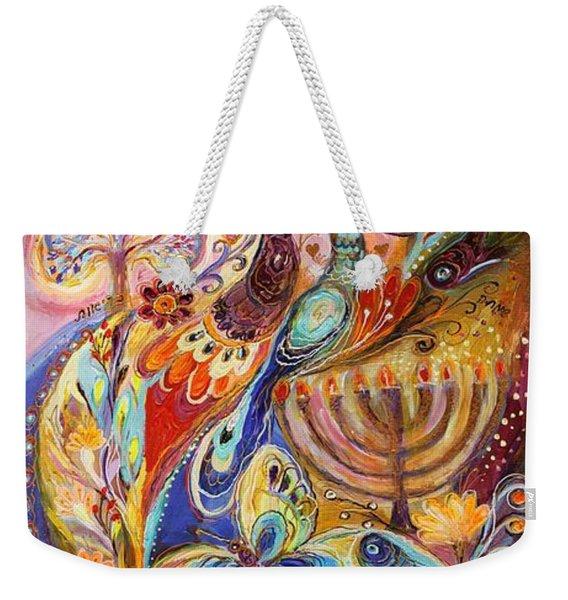 Hanukkah In Magic Garden Weekender Tote Bag