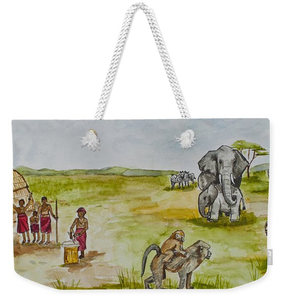 Happy Africa Weekender Tote Bag