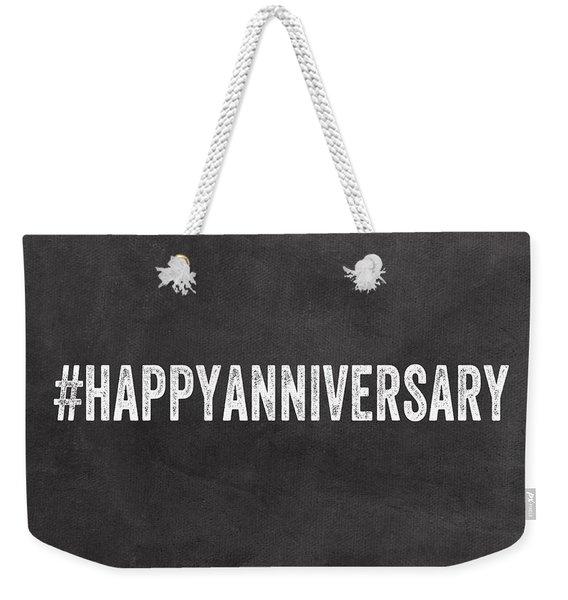 Happy Anniversary- Greeting Card Weekender Tote Bag