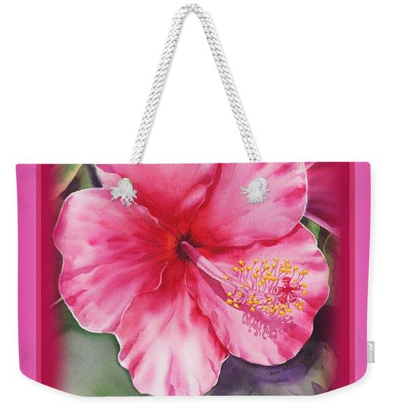 Happy Birthday Hibiscus  Weekender Tote Bag