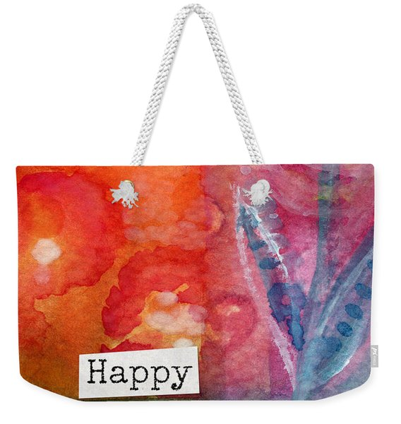 Happy Birthday- Watercolor Floral Card Weekender Tote Bag