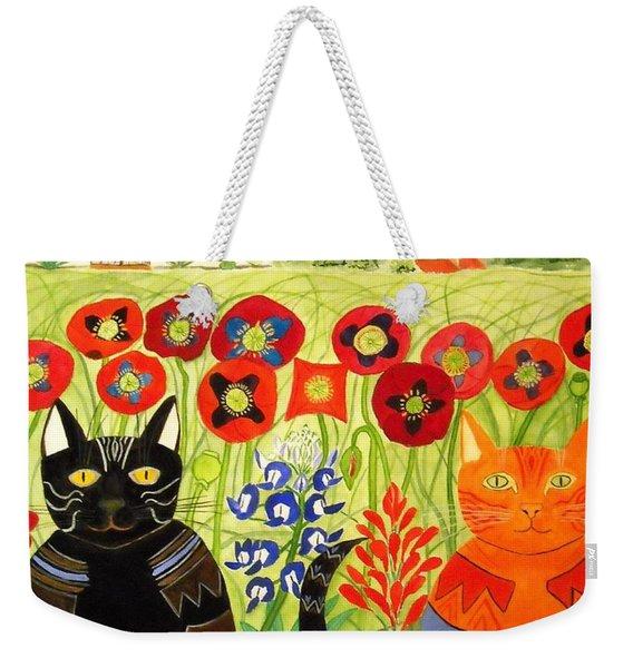 Happy Cats Weekender Tote Bag