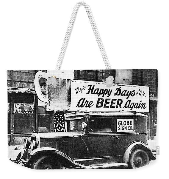 Happy Days Are Beer Again Weekender Tote Bag