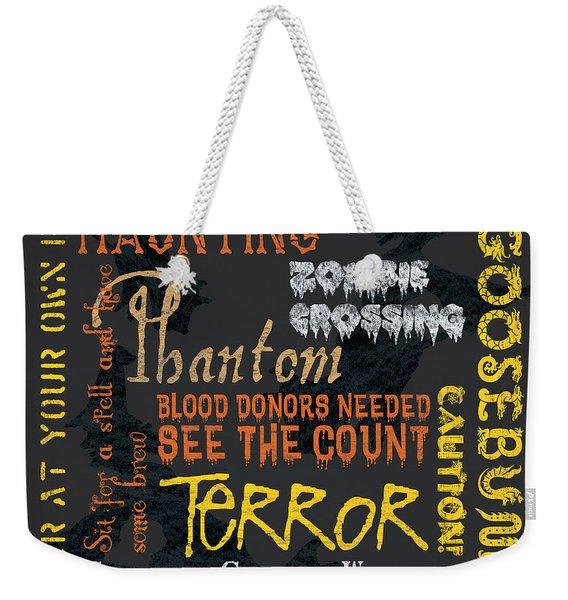 Happy Haunting Weekender Tote Bag
