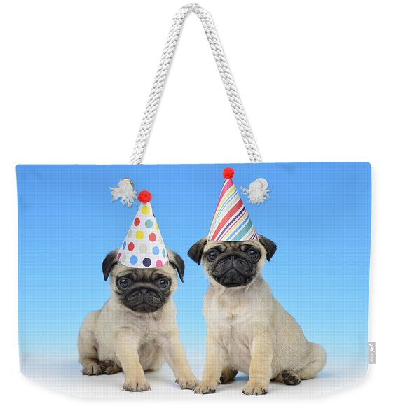 Happy Pug Birthday Weekender Tote Bag