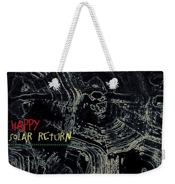 Happy Solar Return 470 Weekender Tote Bag
