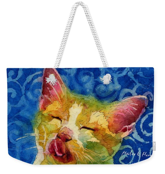 Happy Sunbathing Weekender Tote Bag