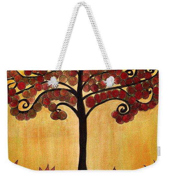Happy Tree In Red Weekender Tote Bag