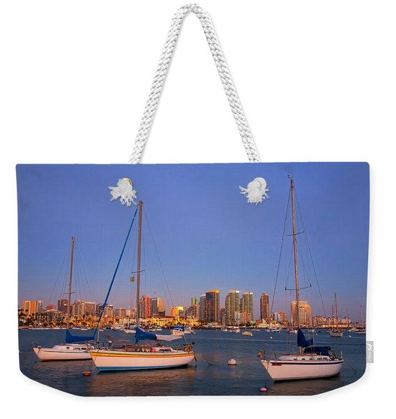 Harbor Sailboats Weekender Tote Bag