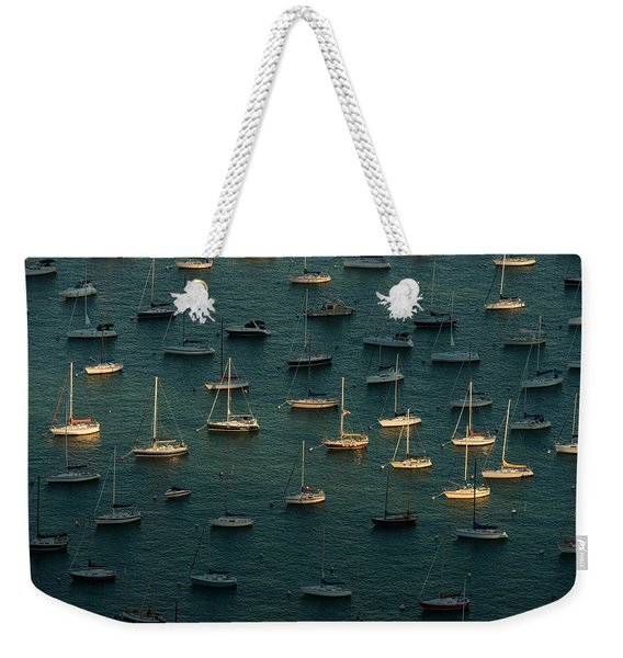Harbor Sunset Chicago Weekender Tote Bag