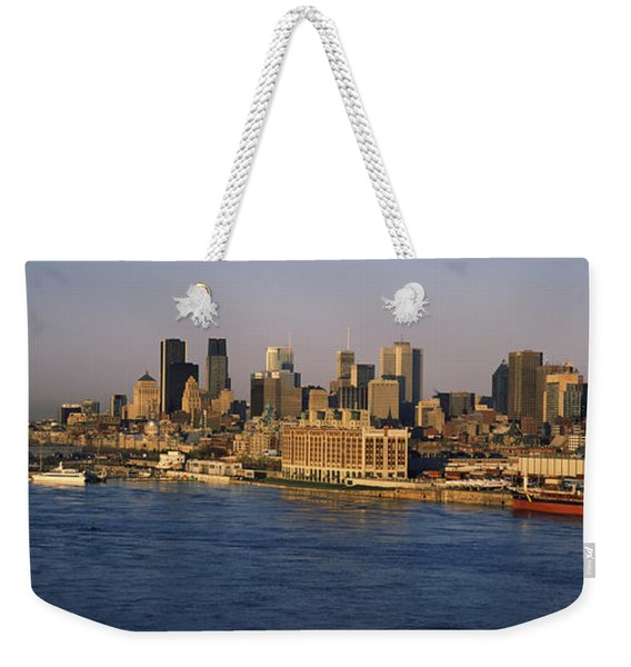Harbor With The City Skyline, Montreal Weekender Tote Bag