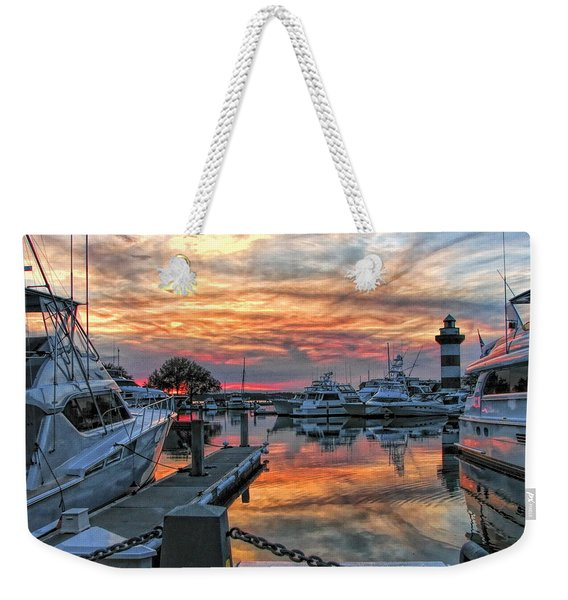 Harbour Town Yacht Basin Weekender Tote Bag