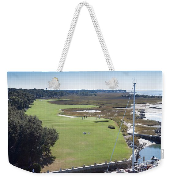Harbourtown Golf Course 18th Hole Weekender Tote Bag