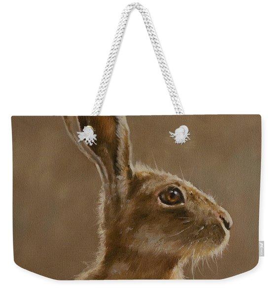 Hare Portrait I Weekender Tote Bag