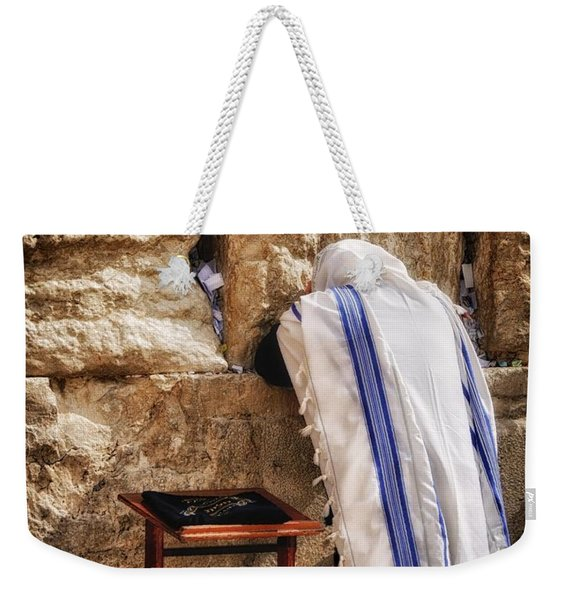 Harken Unto My Prayer O Lord Western Wall Jerusalem Weekender Tote Bag