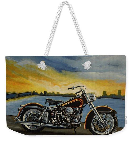 Harley Davidson Duo Glide Weekender Tote Bag