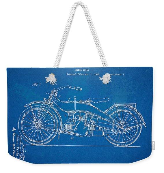 Harley-davidson Motorcycle 1924 Patent Artwork Weekender Tote Bag