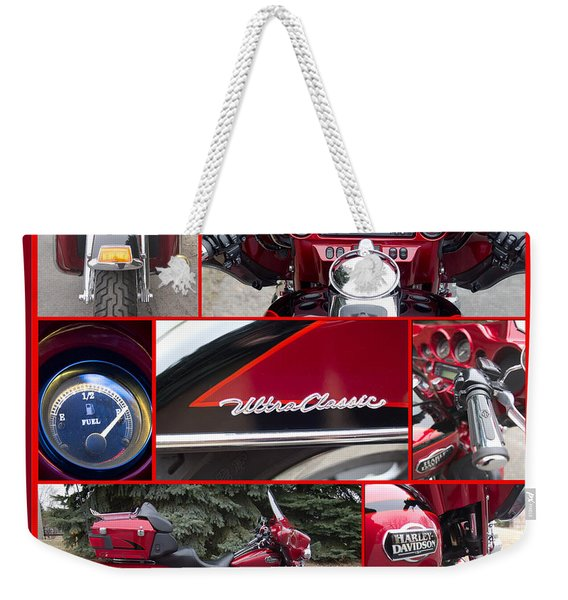 Weekender Tote Bag featuring the photograph Harley Davidson Ultra Classic Trike by Patti Deters