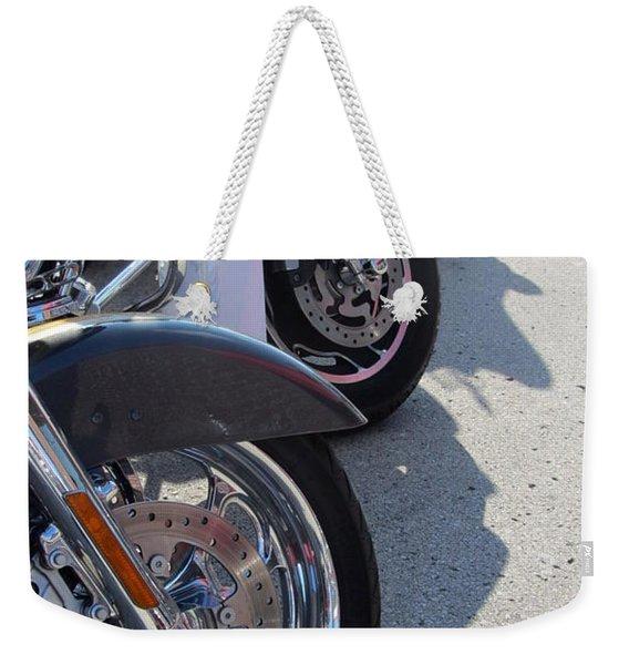 Harley Line Up 1 Weekender Tote Bag
