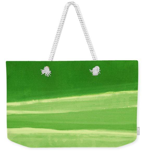 Harmony In Green Weekender Tote Bag