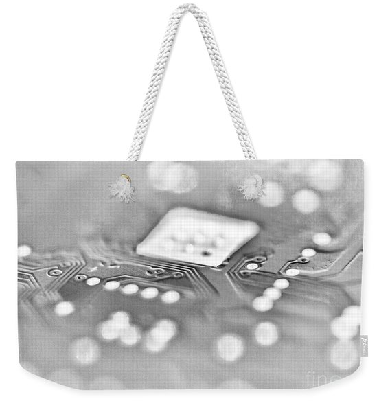 Hartddrive High Key Black And White Weekender Tote Bag