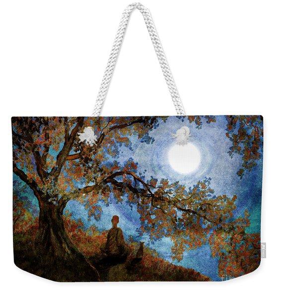Harvest Moon Meditation Weekender Tote Bag