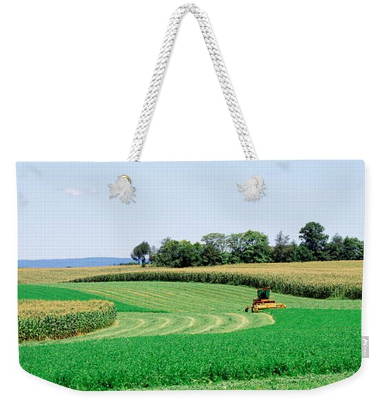 Harvesting, Farm, Frederick County Weekender Tote Bag